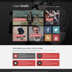 Responsive Website Vorlage für Videographen-