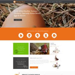 Responsive Website Vorlage für Geflügelfarm