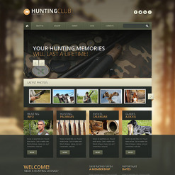 Hunting Responsive WordPress Theme