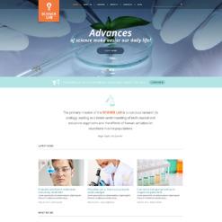 Science Lab Responsive WordPress Theme