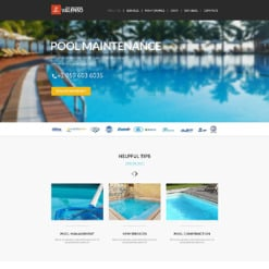 Pool Cleaning Responsive Joomla Template