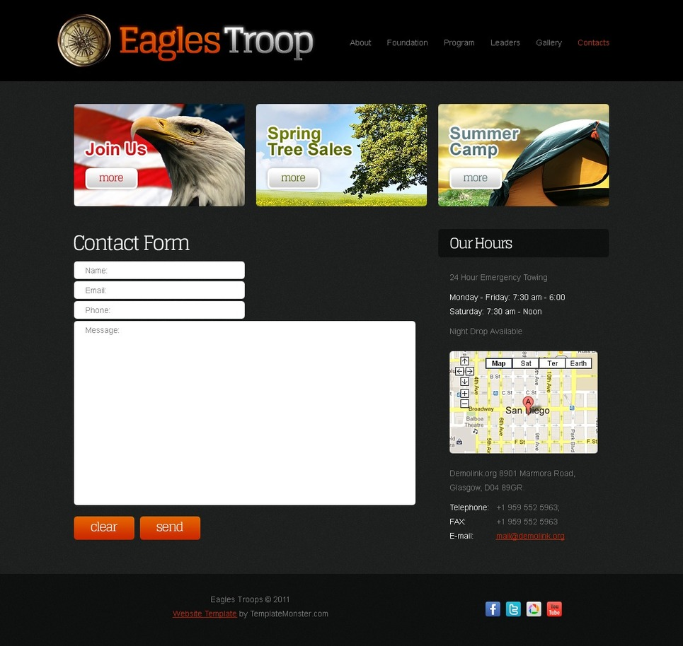 Template Monster Free Jquery Templates Choice Image - Template ...