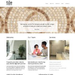 Responsive Website Vorlage für Innenarchitektur