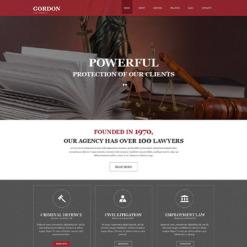 Muse Template für Anwaltskanzlei