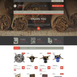 Responsives PrestaShop Theme für Tabak