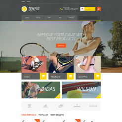 Responsives PrestaShop Theme für Tennis