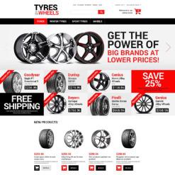Responsives Magento Theme für Räder & Reifen