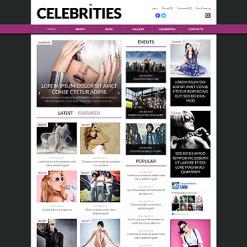 Celebrity Website Responsive WordPress Theme