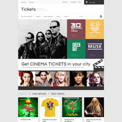 Responsives PrestaShop Theme für Eintrittskarten Website