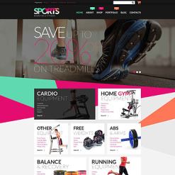 Responsives WooCommerce Theme für Fitness