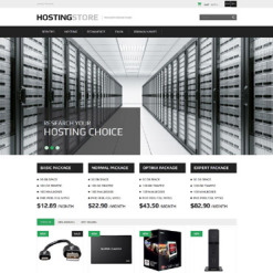 Responsives PrestaShop Theme für Hosting