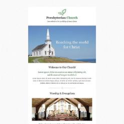 Responsive Newsletter Vorlage für Presbyterianer