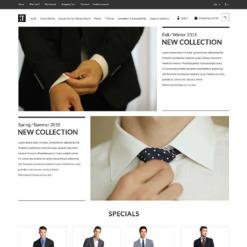 Responsive OpenCart Vorlage für Mode-Shop