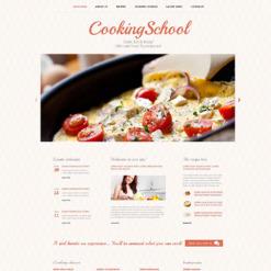 Responsive Website Vorlage für Kochschule