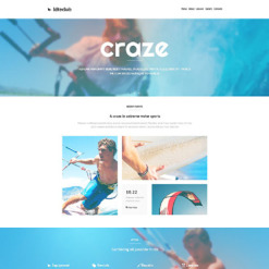 Responsive Website Vorlage für Kitesurfen