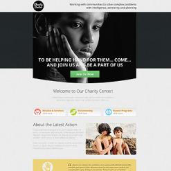 Landing Page Template für Wohltätigkeit
