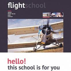 Flight School Moto CMS HTML Template