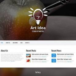 Moto CMS HTML Vorlage für Kunstatelier