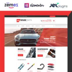 Responsives WooCommerce Theme für Autoteile