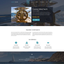 Yachting Responsive Drupal Template