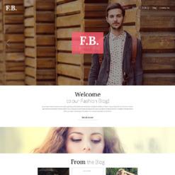 Responsives WordPress Theme für Mode-Blog
