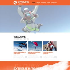 Skydiving Responsive Website Template