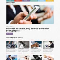 Electronics Review Responsive WordPress Theme