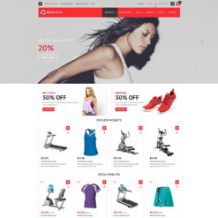 Sports Store OsCommerce Template