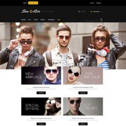 Responsives PrestaShop Theme für Brillen