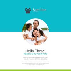 Responsive Newsletter Vorlage für Familie