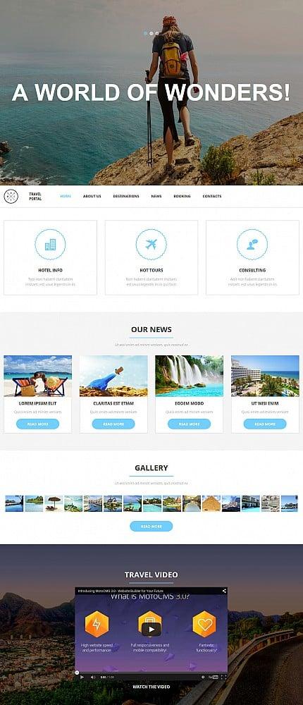 """Заказ сайта по типу """"Создать интернет магазин с регистрацией"""" на темы """"Путешествия, Самые популярные"""" по шаблону 53740"""