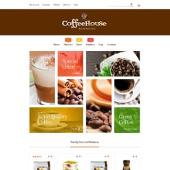 Responsives WooCommerce Theme für Kaffeeshop
