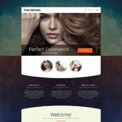 Responsives Landing Page Template für Modellagentur
