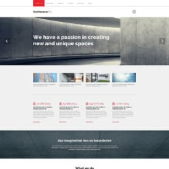 Architecture Responsive Drupal Template