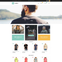 T-shirt Shop Responsive Magento Theme