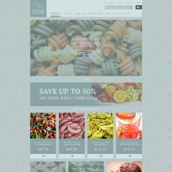 Responsive ZenCart Vorlage für Lebensmittelgeschäft