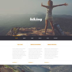 Responsives WordPress Theme für Camping