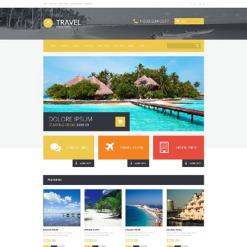 Responsive OpenCart Vorlage für Reisebüro