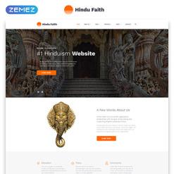 Responsive Website Vorlage für Hinduismus