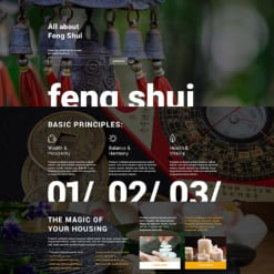 Responsives Landing Page Template für Feng Shui