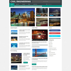 Civil Engineering Responsive WordPress Theme