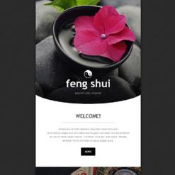 Responsive Newsletter Vorlage für Feng Shui