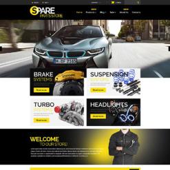 Responsives Shopify Theme für Autoteile