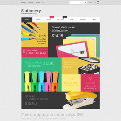 Stationery Responsive Magento Theme