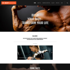 Responsives WordPress Theme für Fitness