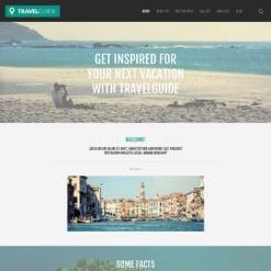 Responsives WordPress Theme für Reisebüro
