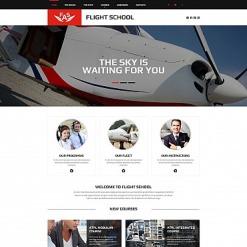 Flight School Responsive Moto CMS 3 Template
