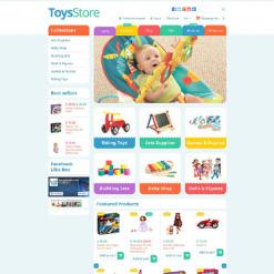 Responsives Shopify Theme für Spielzeuggeschäft