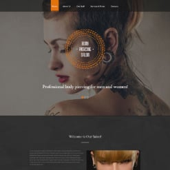 Responsive Website Vorlage für Piercing Shop