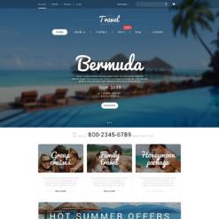 Responsives WooCommerce Theme für Reisebüro